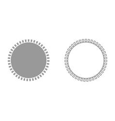 sun it is black icon vector image