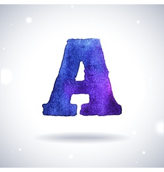 Watercolor letter A vector image vector image