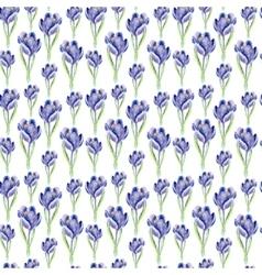 Watercolor saffron herb seamless pattern vector