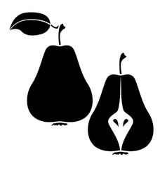 Group of pear icon vector