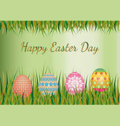 Easter day background vector