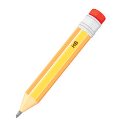 Simple pencil icon vector