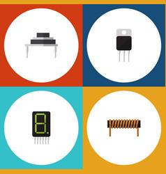 Flat icon appliance set of receiver destination vector