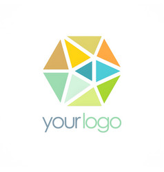 Triangle crystal colorful logo vector