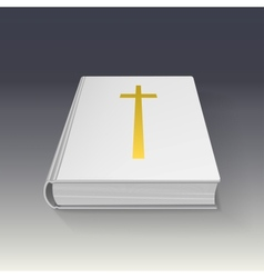 Book with gold cross vector