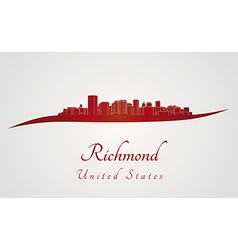 Richmond skyline in red vector