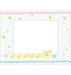 Child photo frame vector