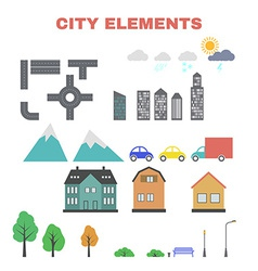 City elements for creating your map vector