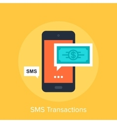 Sms transactions vector