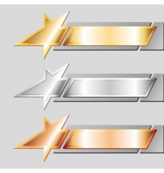 Metal emblems vector