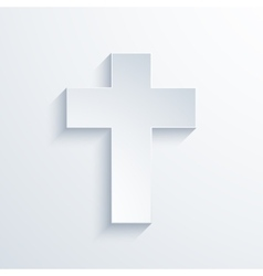 Modern religious cross icon with long vector