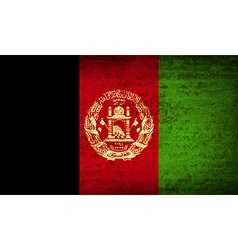 Flags afghanistan with dirty paper texture vector