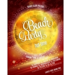 Beach party poster eps 10 vector