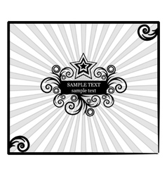 Decorative star-frame with spiral elements vector