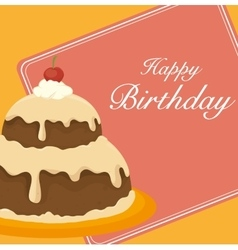 Happy birthday cake dessert vector