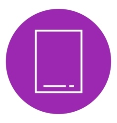Touch screen tablet line icon vector