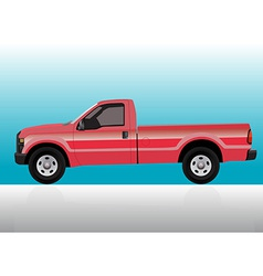 Pick-up truck red vector image