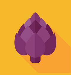 artichoke flat icon vegetable vector image vector image