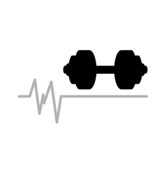 barbell heart rate icon design graphic vector image