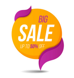 Big sale label price tag banner sticker badge vector