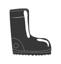 Boot shoe icon industrial security design vector