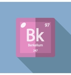 Chemical element berkelium flat vector