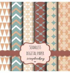 Collection of Digital Papers vector image