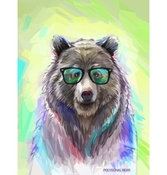 Colorful bear Bright poster vector image vector image