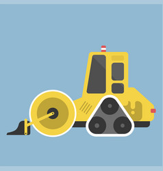 construction tractor transportation vehicle mover vector image vector image
