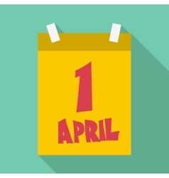 First april calendar icon flat style vector image