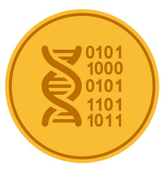 Genome gold coin vector