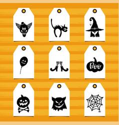 halloween symbols vector image vector image