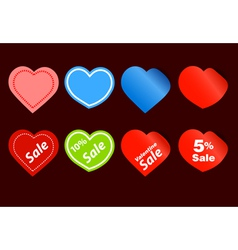 Happy valentine sale stickers vector image