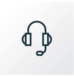 headphones outline symbol premium quality vector image vector image
