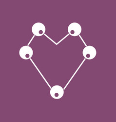 Icon atom scheme vector