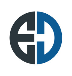 letter ed logo design vector image