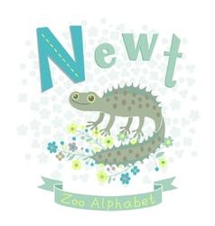 Letter n - newt vector