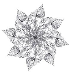 Mandala ethnic amulet vector image