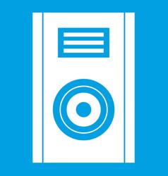 Music speaker icon white vector