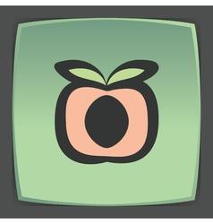 Outline peach fruit icon modern infographic logo vector