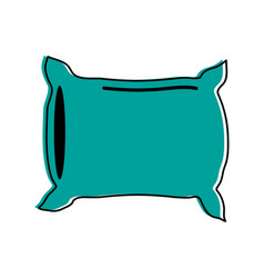 pillow bedroom icon image vector image