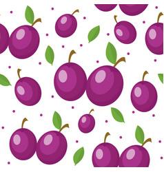 Plums seamless pattern plum endless background vector