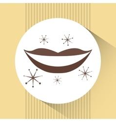 retro party icon design vector image vector image