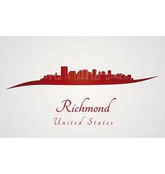 Richmond skyline in red vector