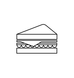 sandwich line icon sign on vector image