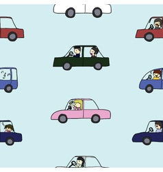 Seamless of Activities during traffic jam vector image vector image