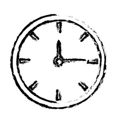 Sketh clock time hour minute image vector