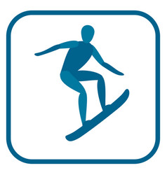 snowboarding athlete emblem vector image