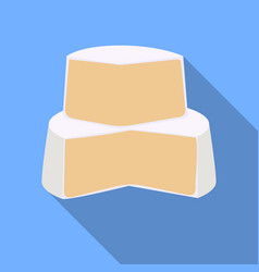 Soft cheese icon in flat style isolated on white vector