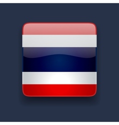 Square icon with flag of thailand vector